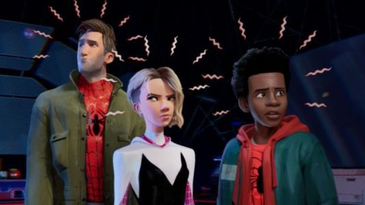 Miles Teams Up with Spider-Gwen in New Into the Spider-Verse TV Spot
