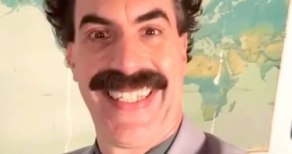 Borat Offers Katy Perry NSFW Birthday Wishes in Video Gifted by Husband Orlando Bloom