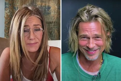 Jennifer Aniston and Brad Pitt Get Flirty During 'Fast Times' Table Read