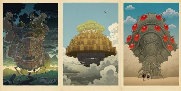 Cool Stuff: Japanese-Style Prints of Hayao Miyazaki Films Will Spirit You Away