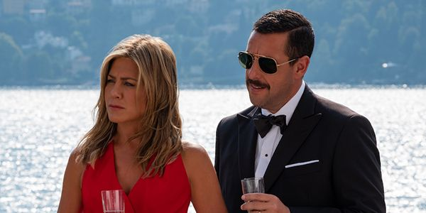 Adam Sandler And Jennifer Aniston Reflect On Awkward Kissing In Netflix's Murder Mystery