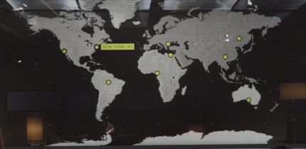 What are the incidents represented on the map presented by Thunderbolt Ross?
