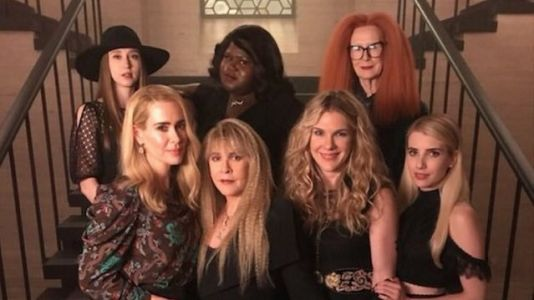 Coven Cast Reunites on Set of American Horror Story: Apocalypse