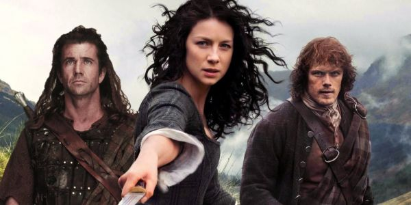 When is Outlander Set, Compared to Braveheart?