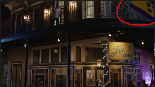 Why was the New Orleans flag altered in NCIS New Orleans?