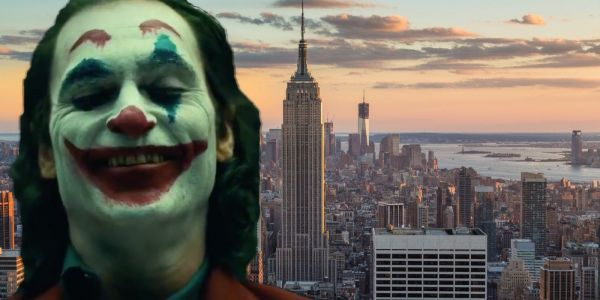 Joaquin Phoenix Wreaks Havoc in Full Joker Costume on NYC Set