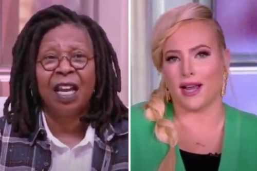 """Whoopi Goldberg Shuts Down 'The View' After Meghan McCain Argues Biden Should """"Remove"""" Dr. Fauci"""