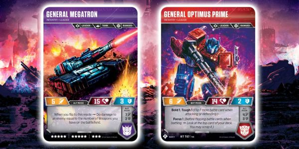 Exclusive: Transformers TCG Preview - Wave 3 Optimus Prime and Megatron