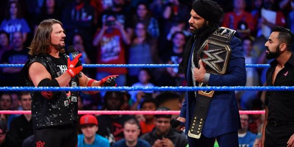 WWE SmackDown Live: Jinder Mahal Challenges Lesnar, Gets AJ Styles Answers
