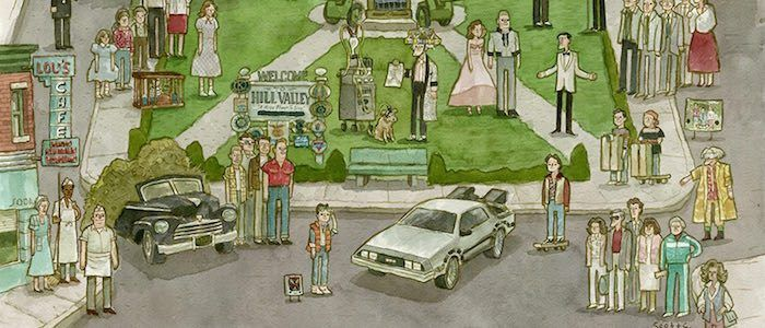 """The Making of """"Clock Tower Valley"""": How Artist Scott C Created His Incredible 'Back to the Future' Print"""