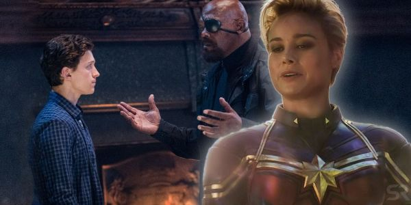 Spider-Man: Far From Home's Fury & Captain Marvel Moment Makes No Sense