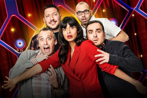 """Jameela Jamil and 'Impractical Jokers' Stars Preview Their """"Forking Ridiculous"""" Game Show, 'The Misery Index'"""
