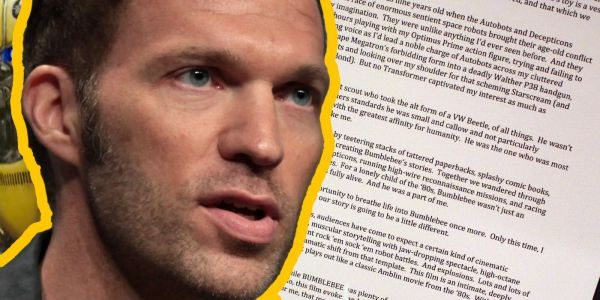 Travis Knight Writes Touching Bumblebee Letter And Proves He's The Best Director For It