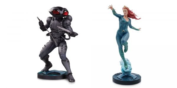 Aquaman Movie Statues Offer Best Look Yet At Black Manta & Mera Costumes