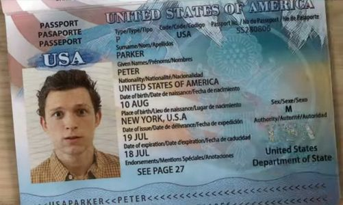 Why was Peter Parker's passport censored in the Trailer?