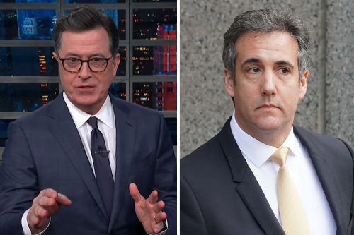 """Stephen Colbert Gives Michael Cohen """"A Little Tip"""" for His First Day in Prison"""