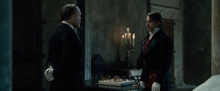Is there a consistent transcript of the chess game between Sherlock Holmes and Moriarty?