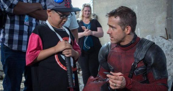 Ryan Reynolds Shares Deadpool 2 Make-A-Wish Photos from Set