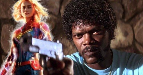 Captain Marvel Meets Jules Winnfield in Pulp Fiction
