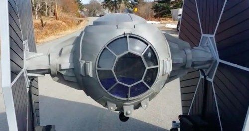 Star Wars Fan Menaces the Streets in Giant Drivable TIE