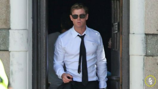 Chris Hemsworth Set Photos from the New Men in Black Movie!