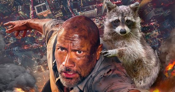 The Rock Posts Hilarious Skyscraper-MPR Raccoon Mashup Poster
