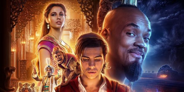 Aladdin Character Posters Spotlight Main Characters, Non-Blue Genie