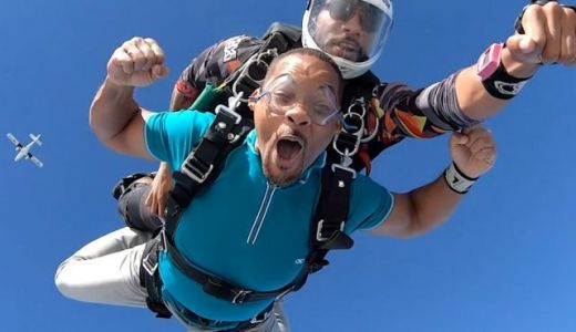 See Will Smith Skydive in New Facebook Reality Series Bucket List