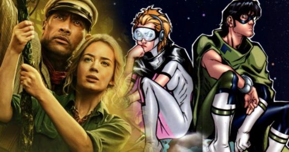 The Rock and Emily Blunt Take Their Superhero Movie Ball and Chain to Netflix