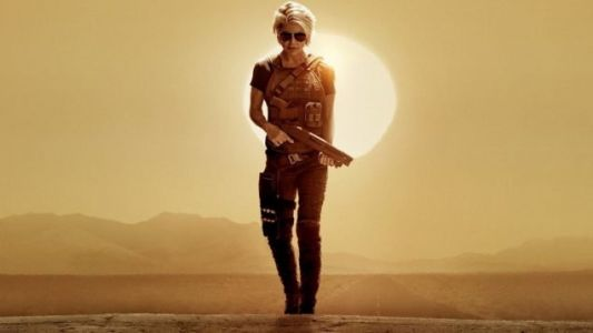 Linda Hamilton Takes Center Stage On The First TERMINATOR: DARK FATE Poster