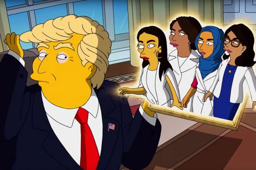 "The Squad Sings to Donald Trump in 'The Simpsons' Clip: ""It's Time to Impeach You Fast"""