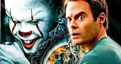 Pennywise Torments Bill Hader in New IT 2 Set PhotosBill