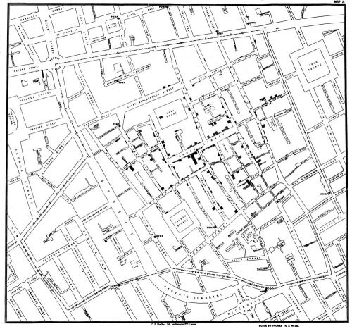 The 1855 Map That Revolutionized Disease Prevention & Data Visualization: Discover John Snow's Broad Street Pump Map