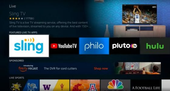 Amazon Fire TV Live Adds Virtual Pay TV Options From Sling, YouTube, Hulu