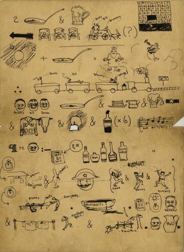 The Elaborate Pictogram Ernest Hemingway Received in the Hospital During WWI: Can You Decode Its Meaning?