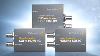 Easily Convert HDMI Video to SDI with Blackmagic's New Micro Converters
