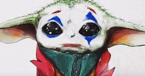 Baby Yoda Becomes Joker in Todd Phillips Approved Fan Art