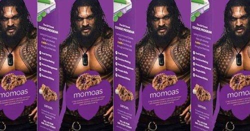 One Girl Scout's Jason Momoa Samoa Cookies Are a Big Hit