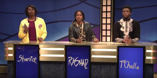 Watch Black Panther's T'Challa Show Up On SNL's Black Jeopardy