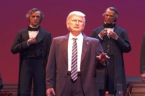 Despite Controversy, Disney Has Finally Revealed Its Robo-Trump For 'The Hall Of Presidents'