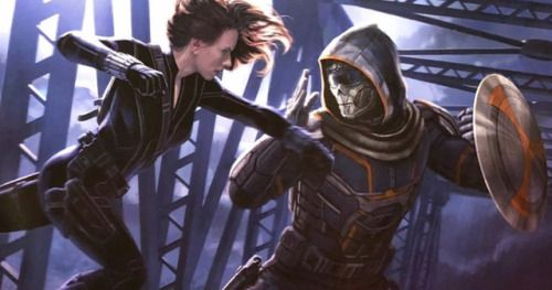 Taskmaster Revealed in Black Widow Concept ArtArtist Andy Park