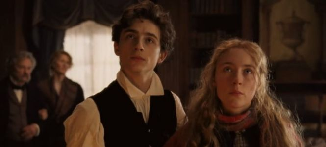 A Modern Hydroflask and Water Bottle Steal the Scene From Timothée Chalamet in a 'Little Women' Background Goof