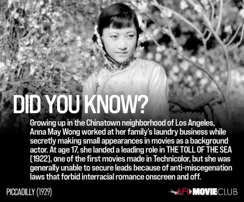 AFI Movie Club: Spotlight on PICCADILLY star Anna May Wong