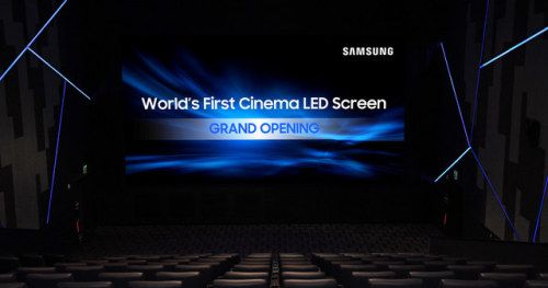 Samsung's New LED Video Wall Debuts at Los Angeles Movie