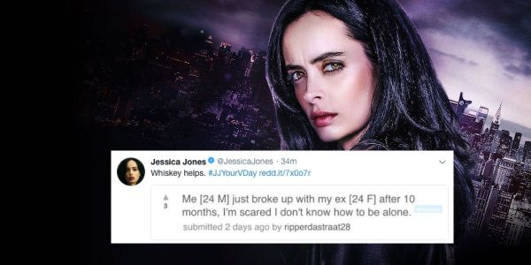 Jessica Jones Offers Valentine's Day Advice on Twitter