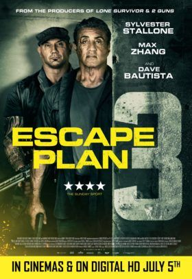 Trailer and Poster of Escape Plan 3 The Extractors starring Sylvester Stallone and Dave Bautista