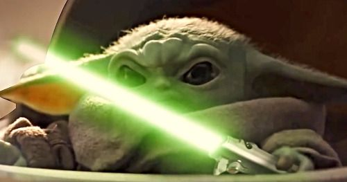 Lightsaber-Wielding Baby Yoda Joins the Avengers in Endgame
