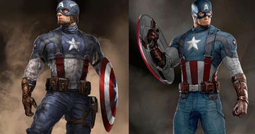 Captain America Art Shows Suit Changes Between First Avenger and
