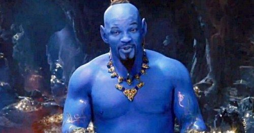 Will Smith's Blue Genie in Aladdin Has Twitter Creeped