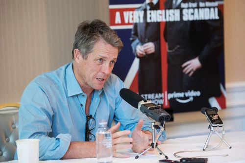 Hugh Grant Held a Very Charming Press Conference As Awards Buzz Grows For 'A Very English Scandal'